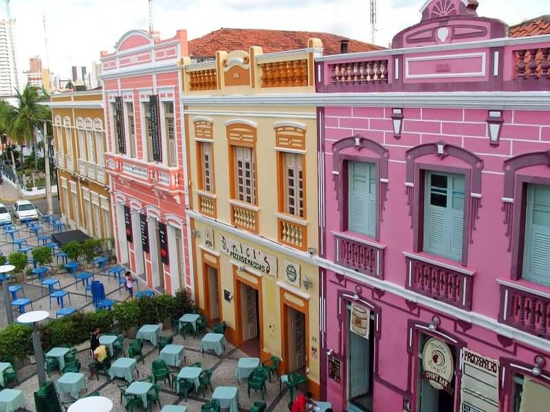 Hotéis no centro turístico de Fortaleza