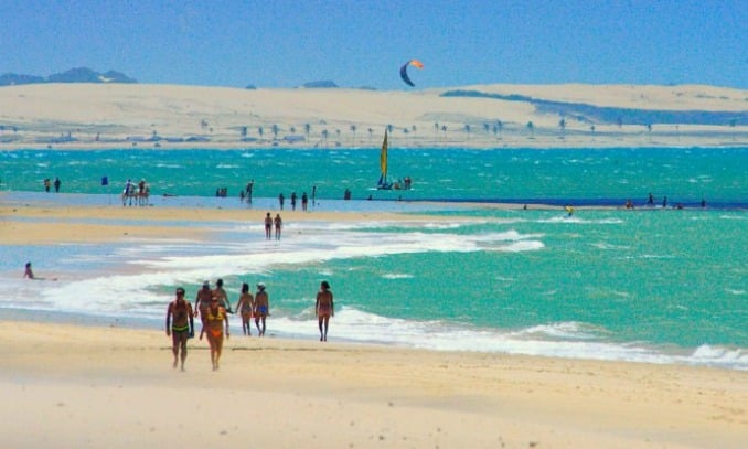 Praia do Cumbuco nos arredores de Fortaleza