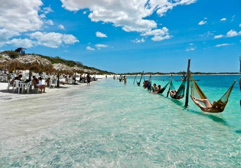 Praia de Jericoacoara nos arredores de Fortaleza