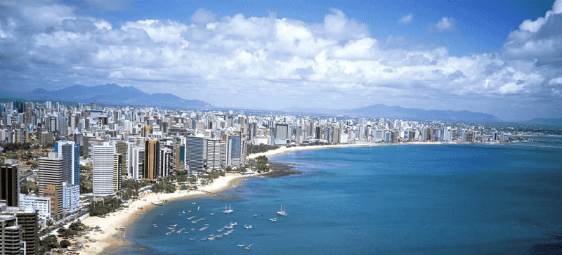 Praia do Mucuripe em Fortaleza