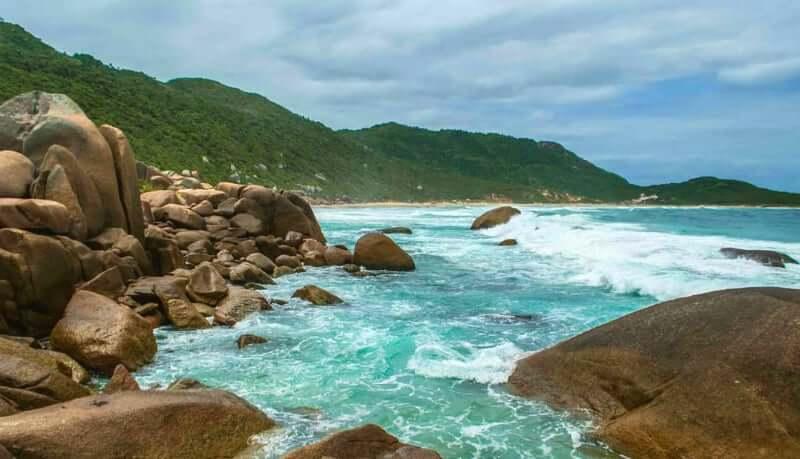 Praia da Galheta em Florianópolis