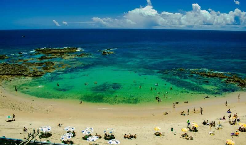 Praia de Ondina em Salvador