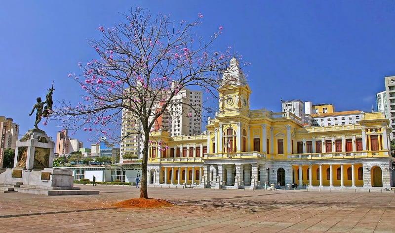 Mapa turístico de Belo Horizonte