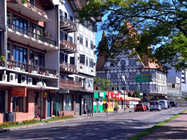 Mapa turístico de Blumenau