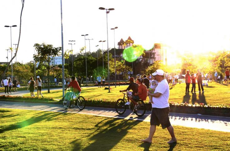 Parque Ramiro Ruediger em Blumenau: Ciclovia