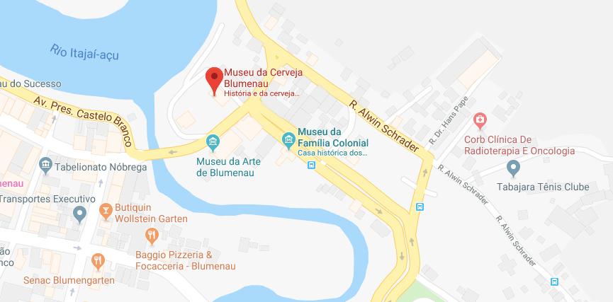 Museu da Cerveja em Blumenau: Mapa