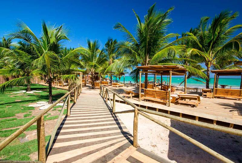 Hibiscus Beach Club da praia de Ipioca em Maceió