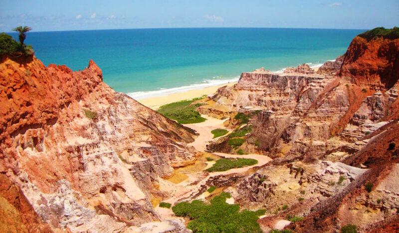 Falésias da praia do Gunga em Maceió