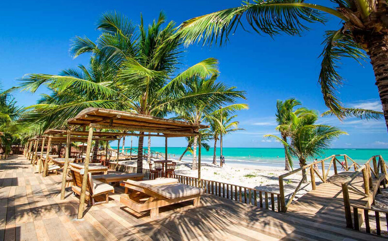 Hibiscus Beach Club perto da praia de Garça Torta em Maceió