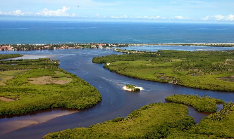 Lagoa Mundaú próximo ao Parque Municipal de Maceió