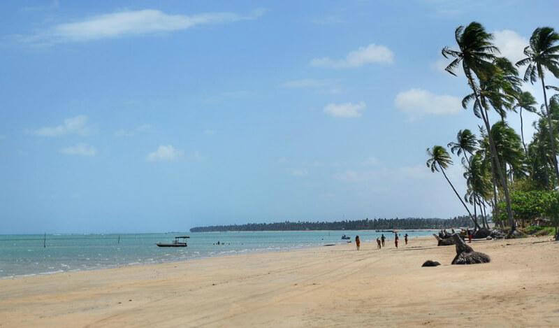 Praia de Peroba próximo a Maragogi em Maceió