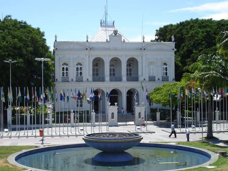 Entrada do Museu Palácio Floriano Peixoto em Maceió