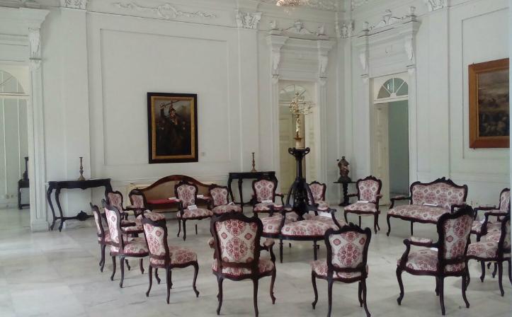 Uma das salas do Museu Palácio Floriano Peixoto em Maceió