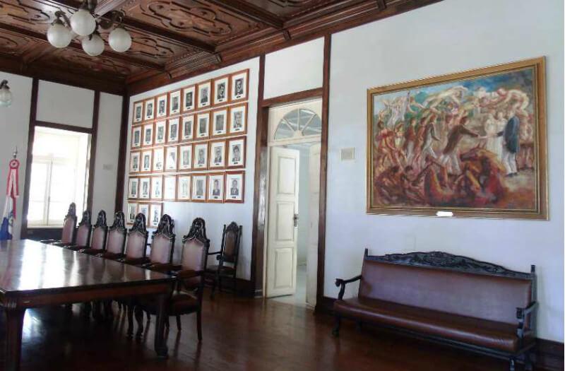 Sala de reunião do Museu Palácio Floriano Peixoto em Maceió