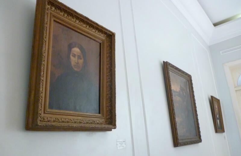 Obras de arte do artista Rosalvo Ribeiro no Museu Palácio Floriano Peixoto em Maceió