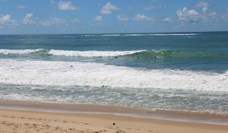 Mar da praia de Cruz das Almas em Maceió