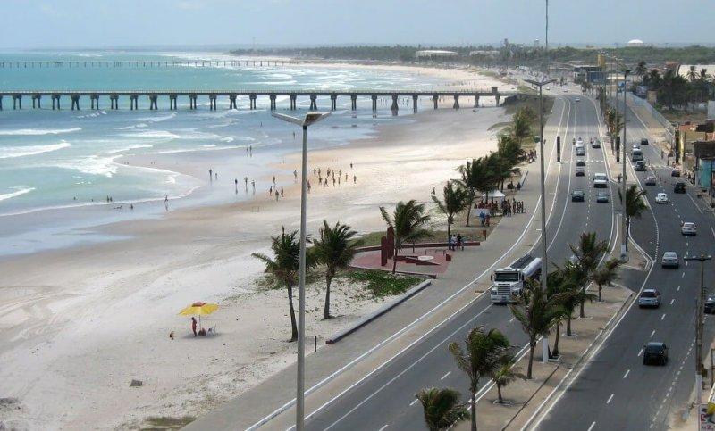 Orla da Praia do Pontal da Barra em Maceió