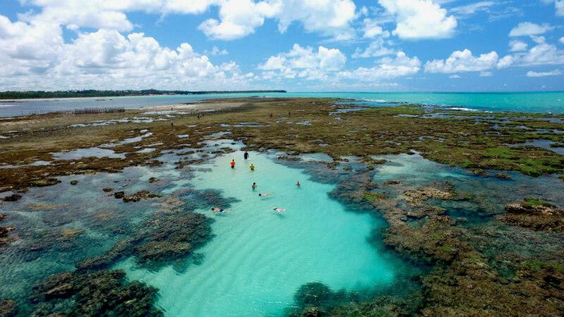Piscinas naturais da praia Pratagy em Maceió