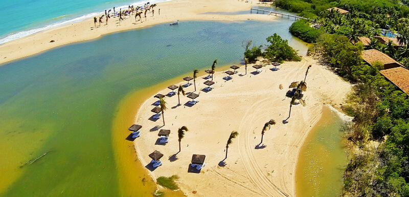 Resort na praia Pratagy em Maceió
