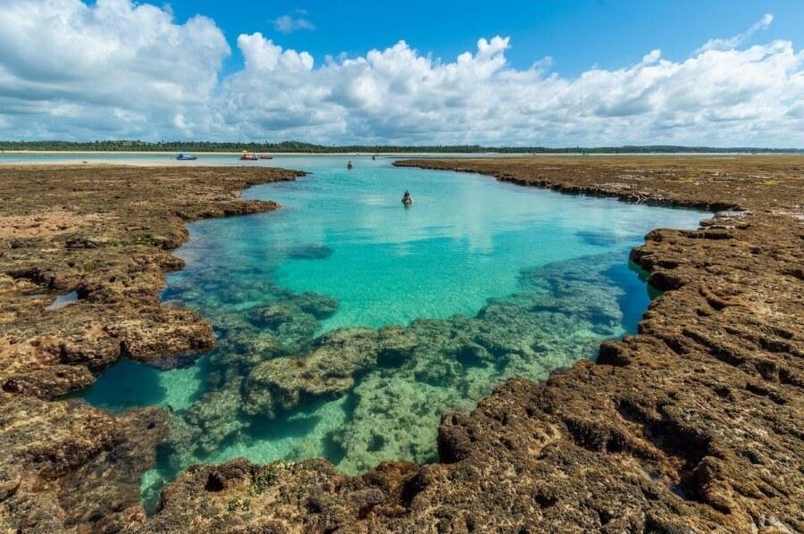 Piscinas naturais na Rota Ecológica da Costa dos Corais em Maceió