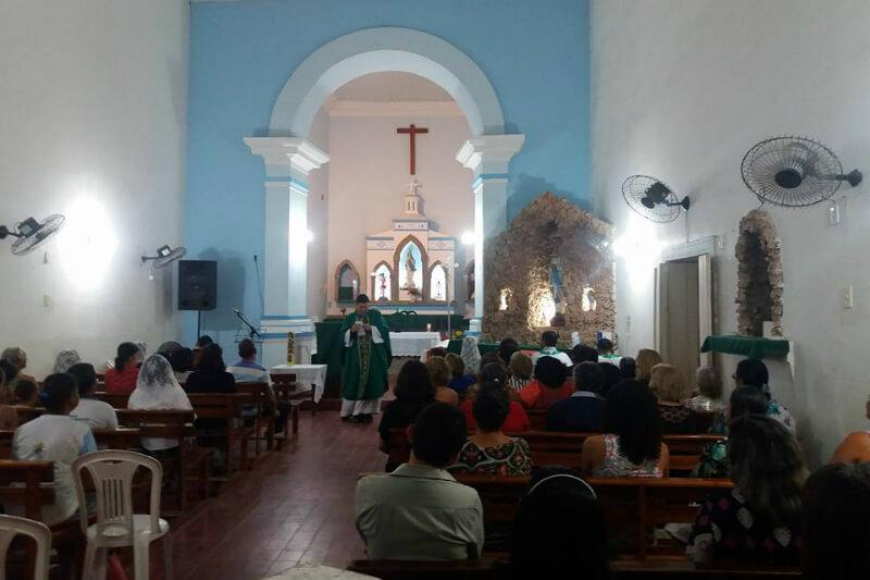 Igreja de Nossa Senhora da Conceição próximo à praia de Riacho Doce em Maceió