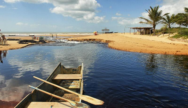 Riacho da praia de Riacho Doce em Maceió
