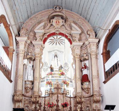 Altar da Igreja Nossa Senhora das Mercês e Perdões em Ouro Preto