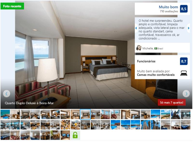 Hotéis no centro turístico de Natal: Quarto do Othon Suites Natal
