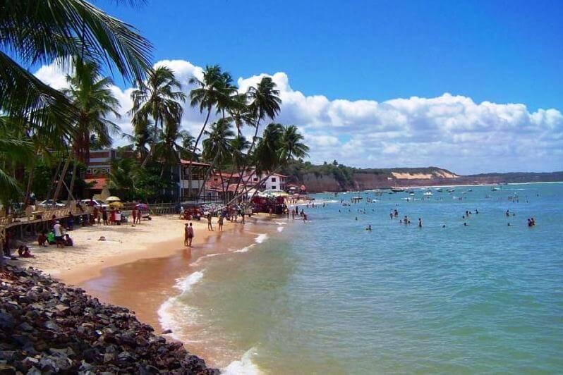 Estrutura da praia de Ponta Negra em Natal