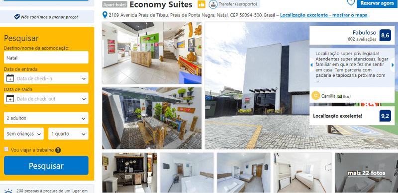 Estadia no Hotel Economy Suites em Natal