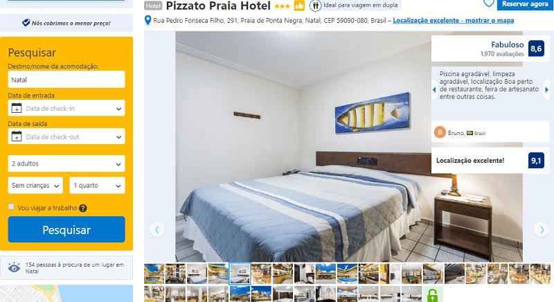 Estadia no Hotel Pizzato Praia em Natal