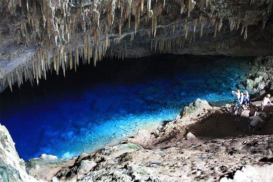 Gruta do Lago Azul em um roteiro em Bonito