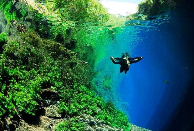 Ir com criança na Lagoa Misteriosa em Bonito